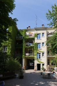 Hinterseite der Häuser