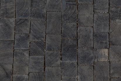 Kopfholzflaster Detail