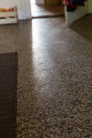 Terrazzboden in einer Küche